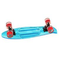 Скейт мини круизер Turbo-FB Cruiser Transparent Blue 5.75 x 22 (55.8 см)
