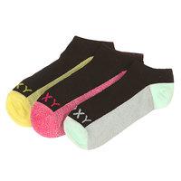 Носки низкие женские Roxy 3pk Marled Sole Black