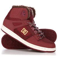 Кеды кроссовки утепленные женские DC Shoes Rebound High Maroon