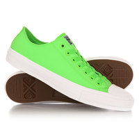 Кеды кроссовки низкие Converse Chuck Taylor All Star Ii Ox Green Gecko