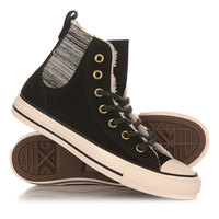 Кеды кроссовки утепленные женские Converse Chuck Taylor All Star Chelsee Hi Black/Natural
