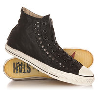 Кеды кроссовки высокие Converse Chuck Taylor All Star Studded Black/Gunmetal