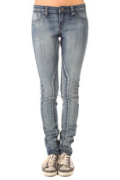 Джинсы узкие женские Volcom Pistol Denim Legging Thalia Blue