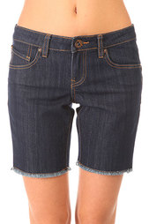 Шорты джинсовые женские Volcom Night Walks Skinny Bermuda Rinse