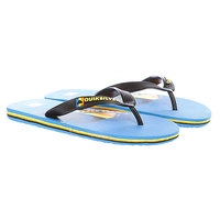 Шлепанцы детские Quiksilver Little Molokai Mw Logo Blue/Black/Yellow