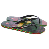 Шлепанцы Quiksilver Molokai Comp Word Red/Yellow/Green