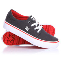Кеды кроссовки детские DC Trase Tx B Shoe Youth Dark Shadow/White/Athletic Red