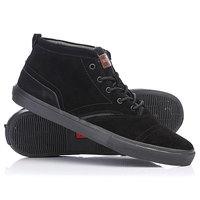 Кеды кроссовки высокие Quiksilver Heyden Black/Blue/Black
