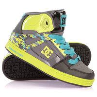 Кеды кроссовки высокие детские DC Rebound Se Youth Shoe Black/Lime