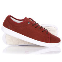 Кеды кроссовки Quiksilver Cove Suede Red/White/Brown