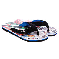 Шлепанцы Quiksilver Layback Print Black/White/Blue