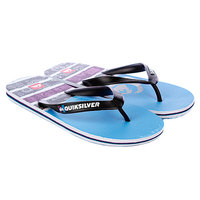 Шлепанцы Quiksilver Molokai Roam Black/White/Blue