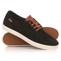 Кеды кроссовки низкие Huf Sutter Black/Tan
