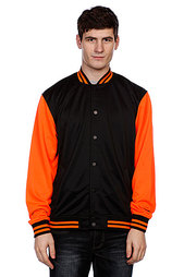 Куртка бомбер Urban Classics Neon College Jacket Black/Orange