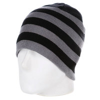 Шапка Urban Classics 2 Stripe Beanie Black/Grey