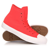 Кеды кроссовки высокие Converse Chuck Taylor All Star II Hi Red/Navy/White