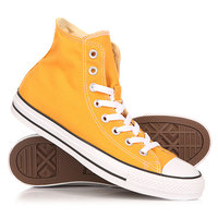 Кеды кроссовки высокие Converse Chuck Taylor All Star Hi Solar Orange