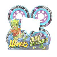 Колеса для скейтборда для лонгборда Landyachtz Pre-Packaged Mini Zombie Hawgs Teal 86A 70 mm