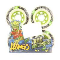 Колеса для скейтборда для лонгборда Landyachtz Pre-Packaged Mini Zombie Hawgs White 80A 70 mm