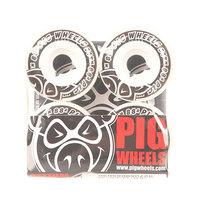 Колеса для скейтборда для скейтборда Pig Street Cruisers New White/Black 88A 54 mm
