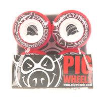 Колеса для скейтборда для скейтборда Pig Street Cruisers New Red 88A 51 mm