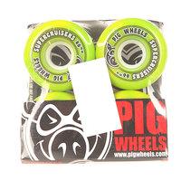 Колеса для скейтборда для лонгборда Pig Supercruiser New Green 85A 66 mm