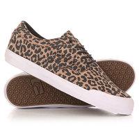 Кеды кроссовки низкие Globe The Taurus Leopard/White