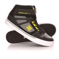Кеды кроссовки высокие детские DC Spartan High Ev B Shoe Black/Yellow