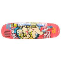 Дека для скейтборда для лонгборда Real Wc Bomber Knockout Pink/Multi 32.15 x 9 (22.9 см)