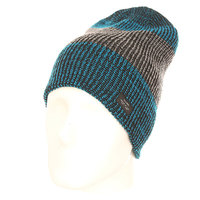 Шапка носок Globe Halladay Fat Stripe Beanie Blue/Grey