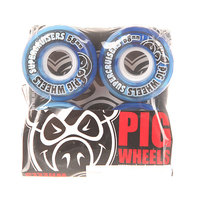 Колеса для скейтборда для лонгборда Pig Supercruiser New Blue/Light Blue 88A 58 mm