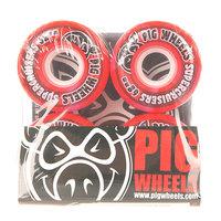 Колеса для скейтборда для лонгборда Pig Supercruiser New Red 88A 62 mm