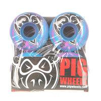 Колеса для скейтборда для скейтборда Pig Head Swirls New Pink/Blue 100A 52 mm