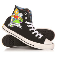 Кеды кроссовки высокие Converse Chuck Taylor All Star The Simpsons Black/Multi