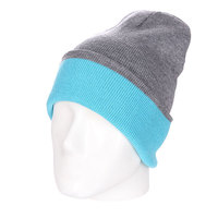 Шапка двусторонняя Skills New Reversible Beanie Heather Grey/Melange Blue