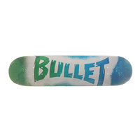 Дека для скейтборда для скейтборда Bullet S6 Sprayed Blue 31.7 x 7.8 (19.8 см)