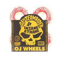 Колеса для скейтборда для скейтборда Oj Team Rider Hard Line Insaneathane White/Red 99A 54 mm