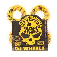 Колеса для скейтборда для скейтборда Oj Borden Hard Line Insaneathane White/Orange 99A 55 mm
