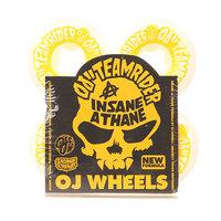 Колеса для скейтборда для скейтборда Oj Team Rider Hard Line Insaneathane White/Yellow 99A 55 mm
