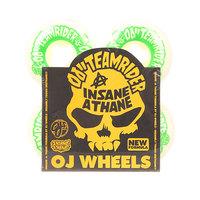 Колеса для скейтборда для скейтборда Oj Team Rider Ez Edge Insaneathane White/Green 101A 54 mm