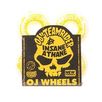 Колеса для скейтборда для скейтборда Oj Team Rider Ez Edge Insaneathane White/Yellow 101A 53 mm