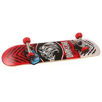 Скейтборд в сборе детский детский Darkstar S6 Lion Youth Soft Top Mic Red 28.5 x 6.75 (17.1 см)