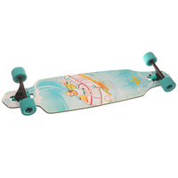 Лонгборд Dusters S6 Sunken Drop-through Longboard Turquoise 9.375 x 38 (96.5 см)