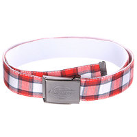 Ремень Dickies Milford Belt Racing White/Canvas/Red