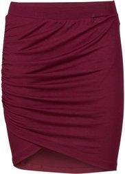 Трикотажная юбка с драпировкой (темно-синий) Bonprix