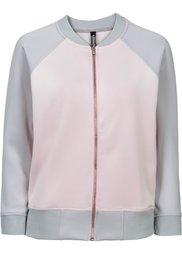 Куртка-бомбер под неопрен (серебристый/черный) Bonprix
