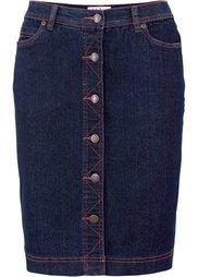 Джинсовая юбка-стретч (нежно-голубой) Bonprix