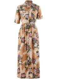 Платье-рубашка (бордово-коричневый с рисунком) Bonprix