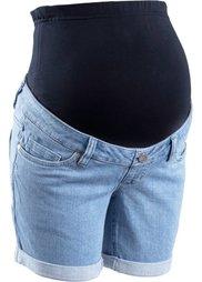 Мода для беременных: джинсовые шорты (темно-синий «потертый») Bonprix