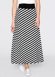 Трикотажная юбка (черный/белый в полоску) Bonprix
